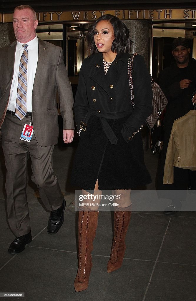 <a gi-track='captionPersonalityLinkClicked' href=/galleries/search?phrase=Tamar+Braxton&family=editorial&specificpeople=2079619 ng-click='$event.stopPropagation()'>Tamar Braxton</a> spotted leaving NBC Studios on February 11, 2016 in New York City.