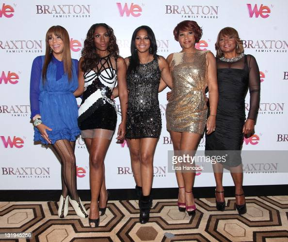 Tamar Braxton Towanda Braxton Trina Braxton Traci Braxton and Evelyn Braxton attend the 'Braxton Family Values' Season 2 premiere at the Tribeca...