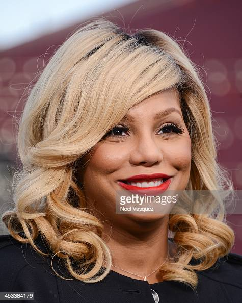 Tamar Braxton visits 'Extra' at Universal Studios Hollywood on December 3 2013 in Universal City California