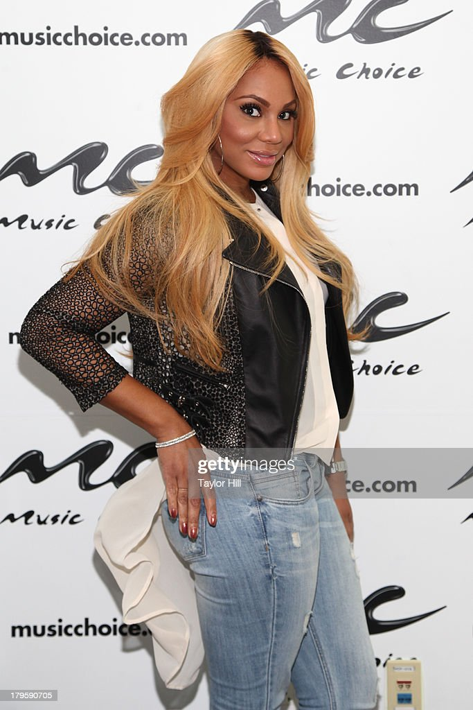 Tamar Braxton visits Music Choice's 'U&A' in Midtown West on September 5, 2013 in New York, United States.