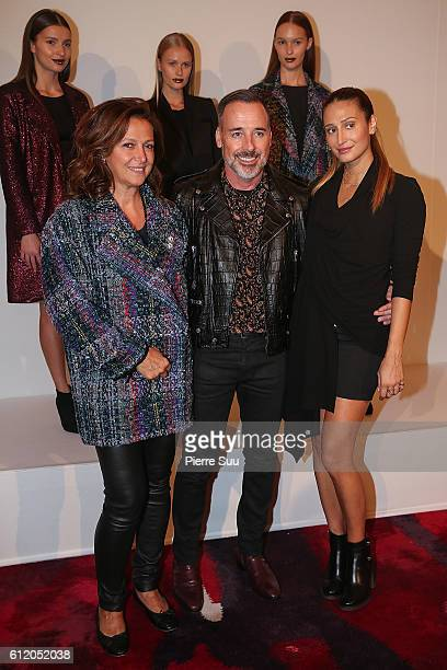 Tamar Manoukian David Furnish and Siran Manoukian attend the Siran Presentation At Hotel Plaza Athenee as part of the Paris Fashion Week Womenswear...
