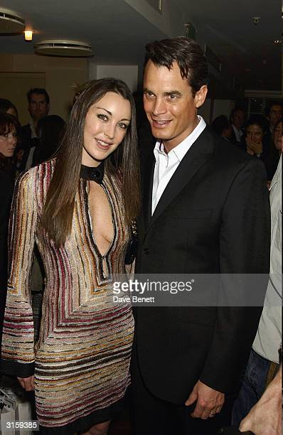 Tamara and Mathew Melon attends the opening night for Mathew Melons new shop 'Harry's' at the fifth floor in Harvey Nichols on November 112003 in...