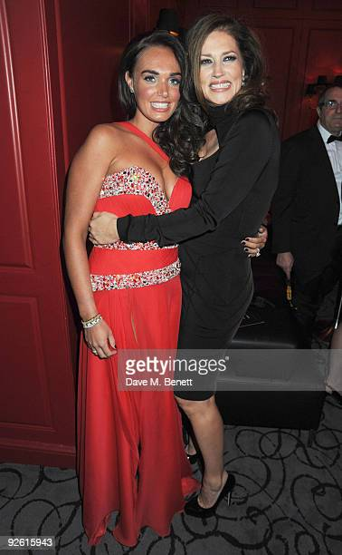 Tamara and Slavica Ecclestone attend the opening party of The Red Room on November 2 2009 in London England