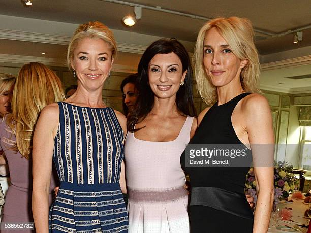 Tamara Beckwith Alessandra Vicedomini and Sarah Woodhead attend a lunch hosted by Tamara Beckwith and Alessandra Vicedomini to celebrate luxury...