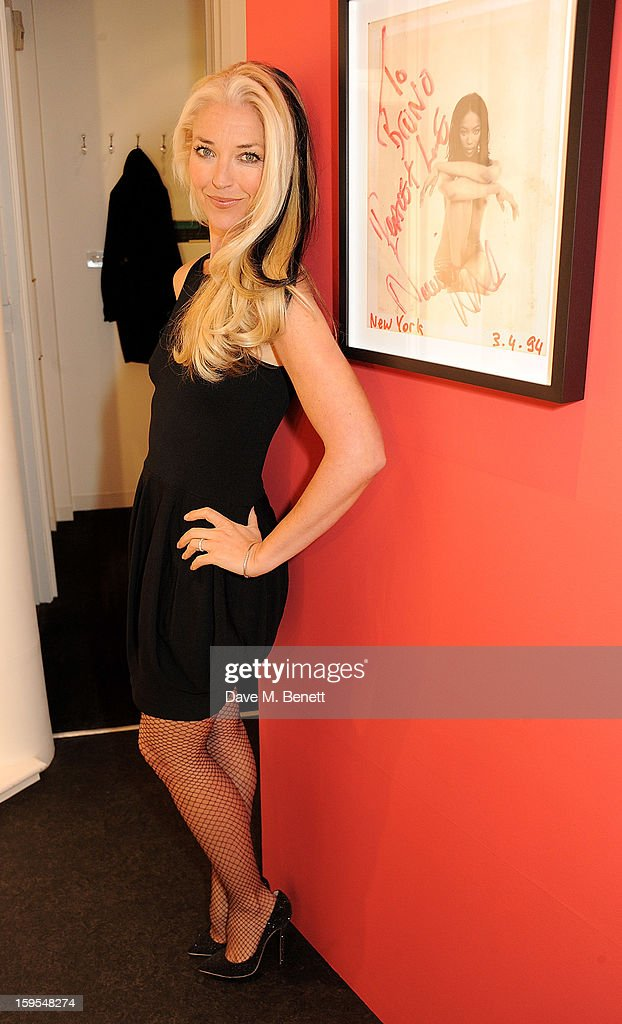 Tamara Beckwith attends a private view of 'Bruno Bisang: 30 Years Of Polaroids' at The Little Black Gallery on January 15, 2013 in London, England.
