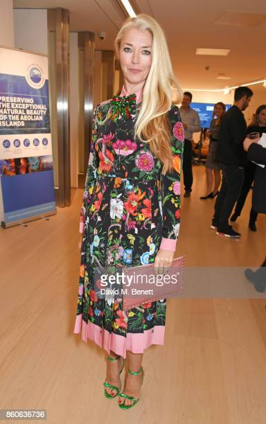Tamara Beckwith attends the Aeolian Islands Preservation Fund's inaugural fundraiser hosted by Ritorno at Phillips Gallery on October 12 2017 in...