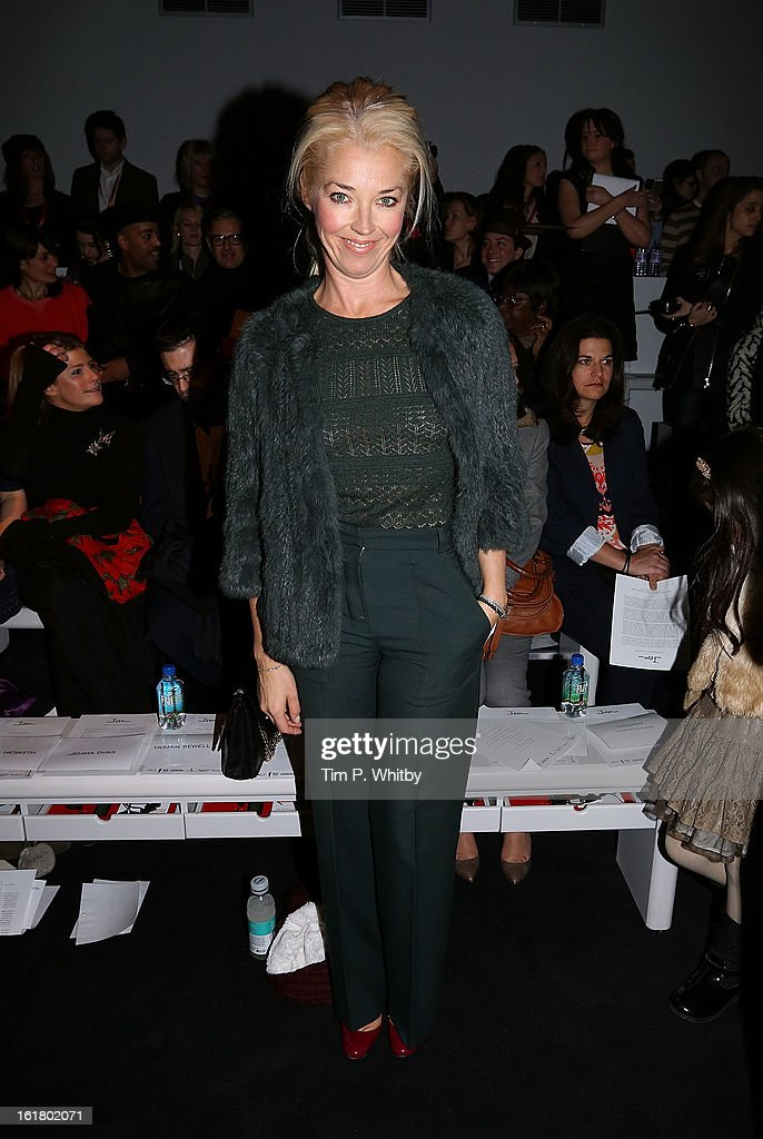 Tamara Beckwith attends the Issa London show during London Fashion Week Fall/Winter 2013/14 at Somerset House on February 16, 2013 in London, England.