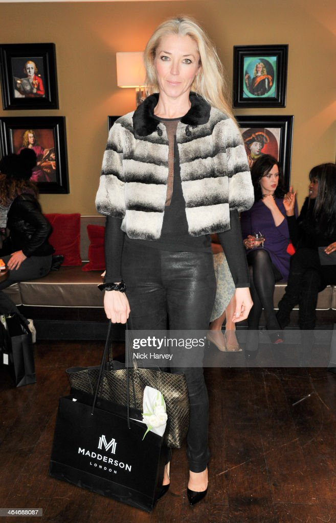 Tamara Beckwith attends the Madderson London Spring/Summer 2014 womenswear collection launch party at Beaufort House on January 23, 2014 in London, England.