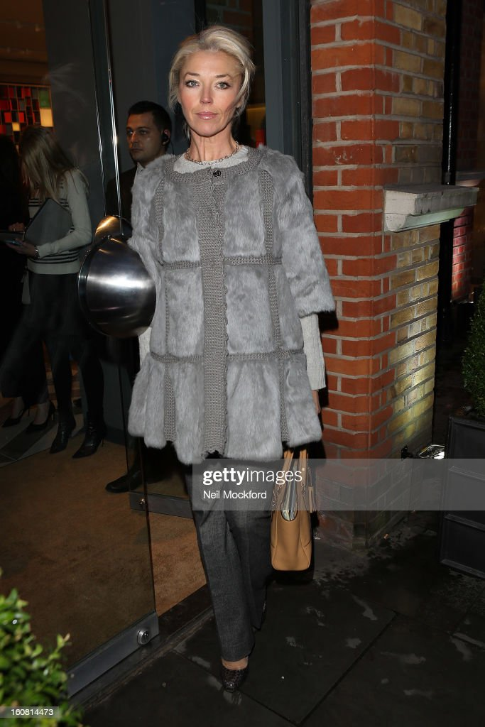 Tamara Beckwith attends the Smythson of Bond Street's afternoon tea party, celebrating the opening of their new Sloane Street store on February 6, 2013 in London, England.