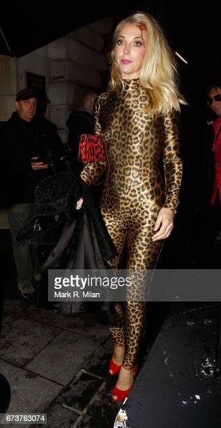 Tamara Beckwith departs Caprice Bourret's 40th birthday and Halloween party at the Cuckoo Club on October 27 2011 in London England