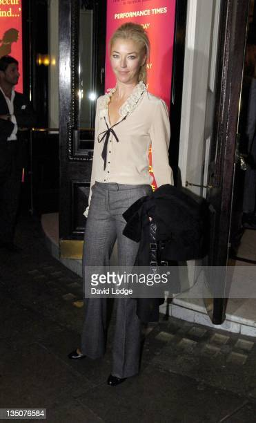 Tamara Beckwith during 'Dirty Dancing' The Classic Story on Stage Arrivals at Aldwych Theatre in London Great Britain