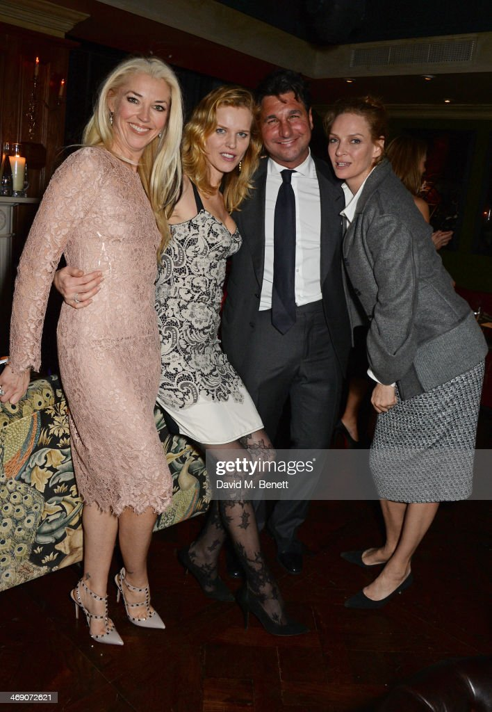 <a gi-track='captionPersonalityLinkClicked' href=/galleries/search?phrase=Tamara+Beckwith&family=editorial&specificpeople=201578 ng-click='$event.stopPropagation()'>Tamara Beckwith</a>, <a gi-track='captionPersonalityLinkClicked' href=/galleries/search?phrase=Eva+Herzigova&family=editorial&specificpeople=156428 ng-click='$event.stopPropagation()'>Eva Herzigova</a>, <a gi-track='captionPersonalityLinkClicked' href=/galleries/search?phrase=Giorgio+Veroni&family=editorial&specificpeople=570237 ng-click='$event.stopPropagation()'>Giorgio Veroni</a> and <a gi-track='captionPersonalityLinkClicked' href=/galleries/search?phrase=Uma+Thurman&family=editorial&specificpeople=171973 ng-click='$event.stopPropagation()'>Uma Thurman</a> attend <a gi-track='captionPersonalityLinkClicked' href=/galleries/search?phrase=Giorgio+Veroni&family=editorial&specificpeople=570237 ng-click='$event.stopPropagation()'>Giorgio Veroni</a>'s birthday party hosted by his wife <a gi-track='captionPersonalityLinkClicked' href=/galleries/search?phrase=Tamara+Beckwith&family=editorial&specificpeople=201578 ng-click='$event.stopPropagation()'>Tamara Beckwith</a> at The Rififi Club on February 12, 2014 in London, England.
