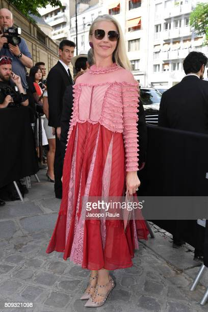 Tamara Beckwith is seen arriving at Valentino fashion show during the Paris Fashion Week Haute Couture Fall/Winter 20172018 on July 5 2017 in Paris...