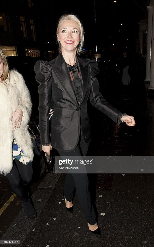 Tamara Beckwith is seen leaving the Voena Gallery, Mayfair on February 6, 2014 in London, England.