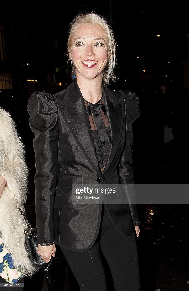 <a gi-track='captionPersonalityLinkClicked' href=/galleries/search?phrase=Tamara+Beckwith&family=editorial&specificpeople=201578 ng-click='$event.stopPropagation()'>Tamara Beckwith</a> is seen leaving the Voena Gallery, Mayfair on February 6, 2014 in London, England.
