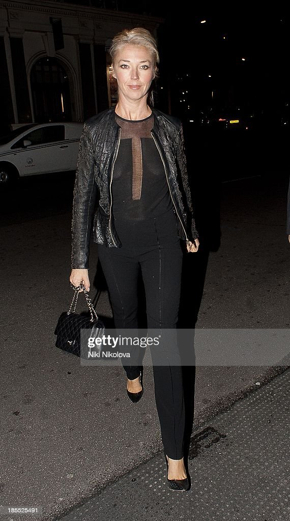 Tamara Beckwith is sighted leaving the Westbury Hotel, Mayfair on October 21, 2013 in London, England.