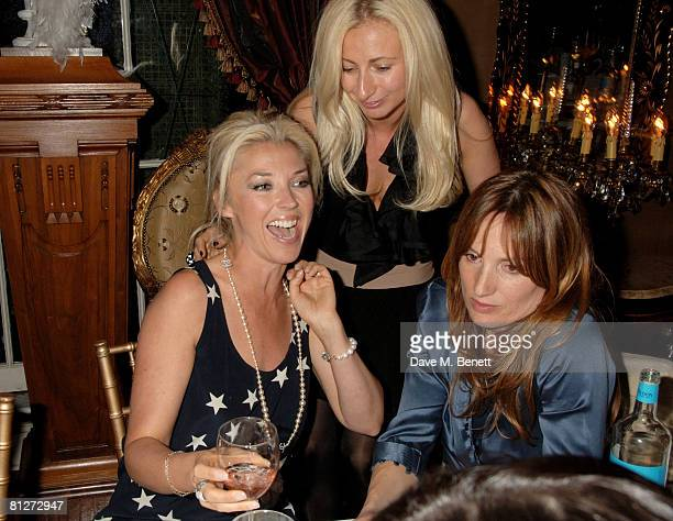 Tamara Beckwith Jenny Halpern and Emily Oppenheimer attend Tamara Beckwith's Birthday Party hosted by the Supper Club and sponsored by Grey Goose at...