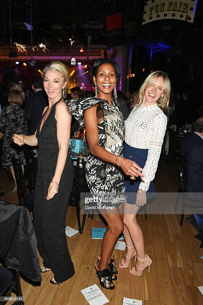<a gi-track='captionPersonalityLinkClicked' href=/galleries/search?phrase=Tamara+Beckwith&family=editorial&specificpeople=201578 ng-click='$event.stopPropagation()'>Tamara Beckwith</a>, Sherett Dahlstrom and Nadya Abela attend the Summer Gala for The Old Vic at The Brewery on June 27, 2016 in London, England.