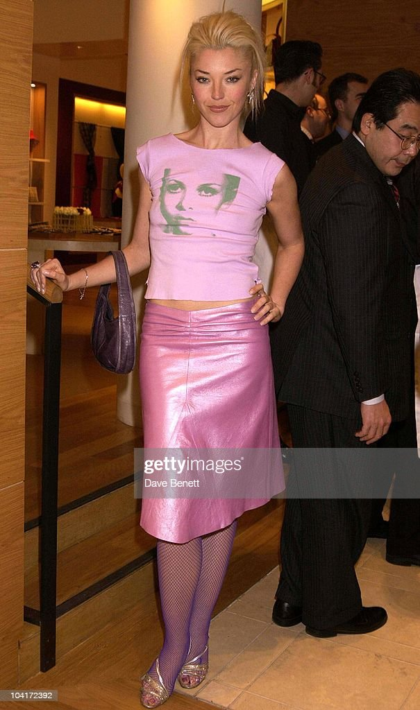 Tamara Beckwith Wearing The Tee Shirt With Twiggy's Image, Burberry Plays Host To Rudolph Giuliani & His Party, Burberry, Bond Street, London.