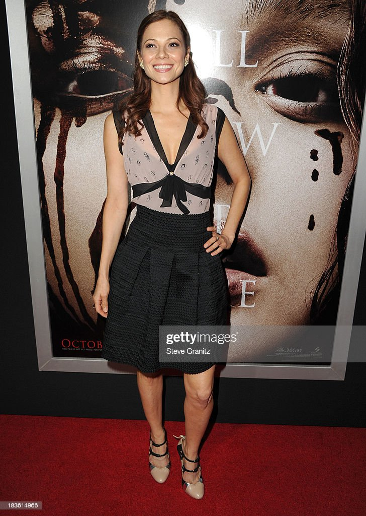 Tamara Braun arrives at the 'Carrie' - Los Angeles Premiere at ArcLight Hollywood on October 7, 2013 in Hollywood, California.