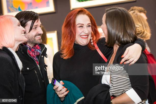 Tamara Dey during the opening of the Andy Warhol exhibition at the Wits Art Museum on July 26 2017 in Johannesburg South Africa The exhibition is...