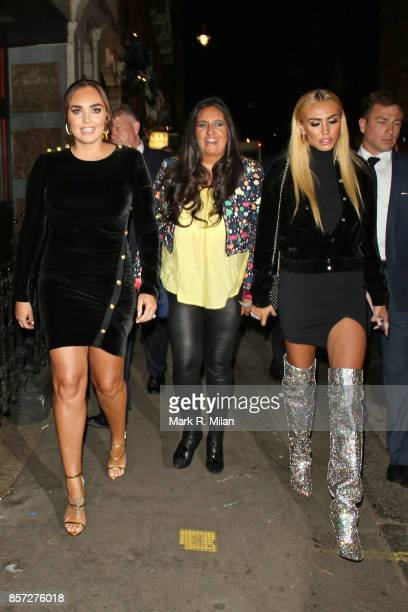 Tamara Eccelstone and Petra Ecclestone attending the Retna Margraves private view at Maddox Gallery Mayfair on October 3 2017 in London England