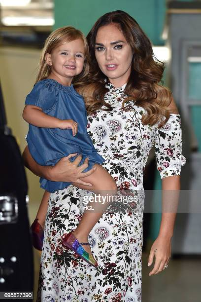 Tamara Eccelstones seen at the ITV Studios wth her daughter Sophia EccelstoneRutland on June 14 2017 in London England