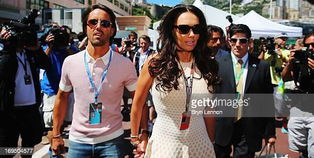 Tamara Ecclestone and her boyfriend Jay Rutland arrive in the paddock before the Monaco Formula One Grand Prix at the Circuit de Monaco on May 26...