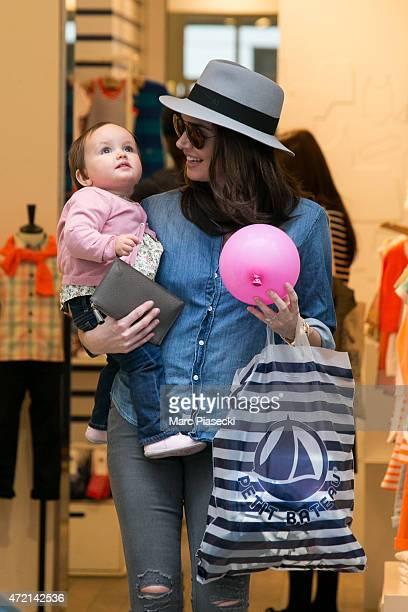 Tamara Ecclestone and her daughter Sophia EcclestoneRutland are seen leaving the 'Petit Bateau' store on May 4 2015 in Paris France