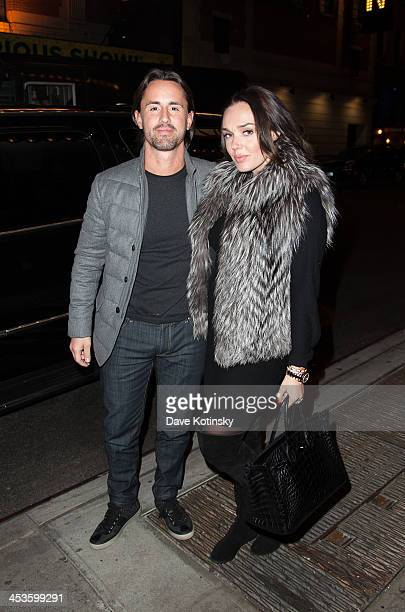 Tamara Ecclestone and husband Jay Rutland arrive at 'Jersey Boys' on Broadway December 4 2013 in New York City