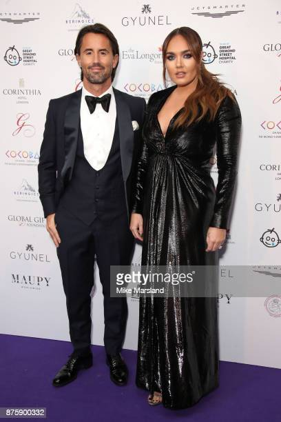 Tamara Ecclestone and Jay Rutland attend The Global Gift Gala London held at Corinthia Hotel London on November 18 2017 in London England