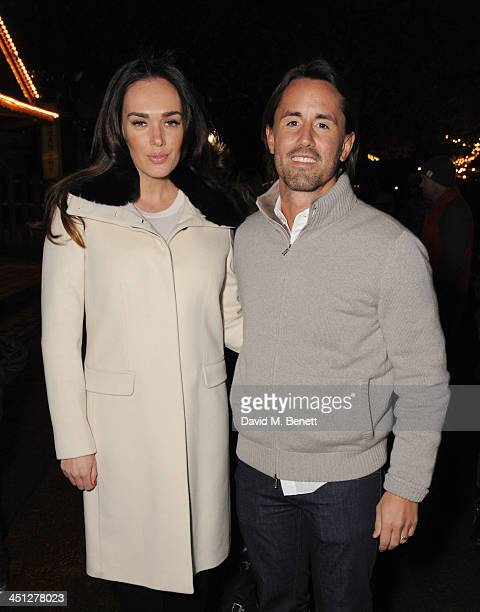 Tamara Ecclestone and Jay Rutland attends the Hyde Park Winter Wonderland VIP opening on November 21 2013 in London England