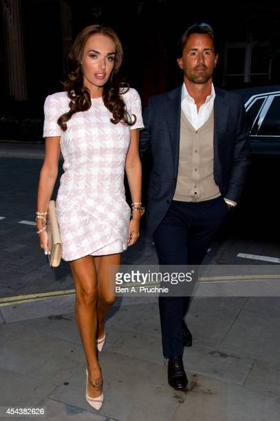 Tamara Ecclestone and Jay Rutland sighted arriving at Roka Mayfair on August 30 2014 in London England