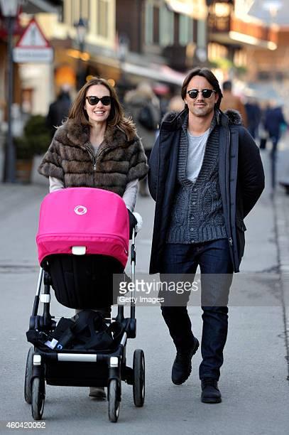 Tamara Ecclestone and Jay Rutland sighting on December 13 2014 in Gstaad Bern