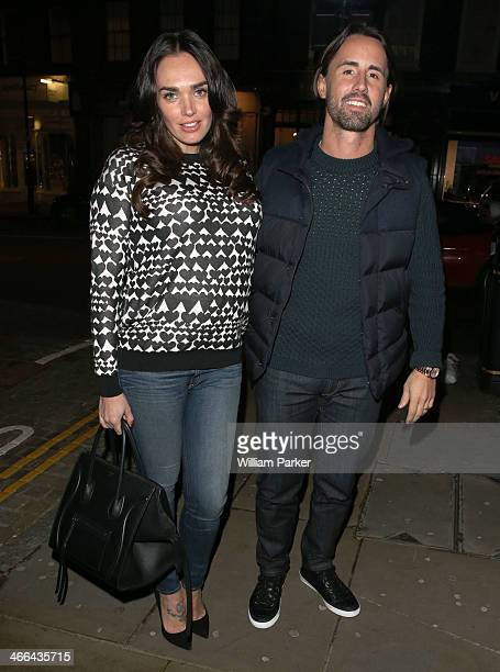 Tamara Ecclestone and Jay Rutland spotted leaving Dirty Bones Restaurant on February 1 2014 in London England