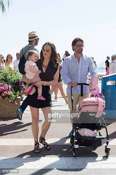 Tamara Ecclestone and Jay Rutland with their daughter Sofia seen during The 68th Annual Cannes Film Festival on May 17 2015 in Cannes France