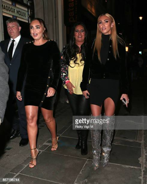 Tamara Ecclestone and Petra Ecclestone attends Retna Margraves private view at Maddox Gallery Mayfair on October 3 2017 in London England