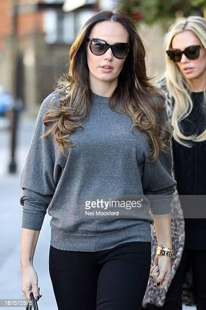 Tamara Ecclestone and Petra Ecclestone seen leaving Scalini Restaurant in Knightsbridge on November 10 2013 in London England
