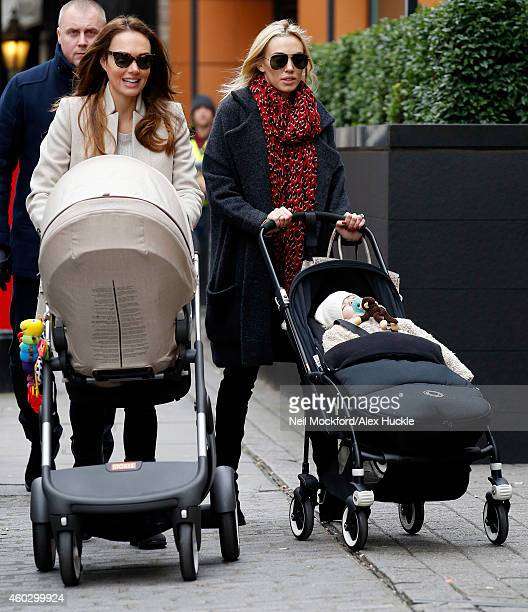 Tamara Ecclestone and Petra Stunt seen arriving at a restaurant in Knightsbridge on December 11 2014 in London England