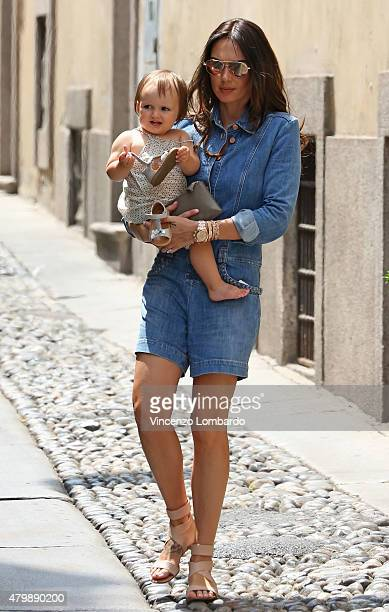 Tamara Ecclestone and Sophia Rutland are seen on July 8 2015 in Milan