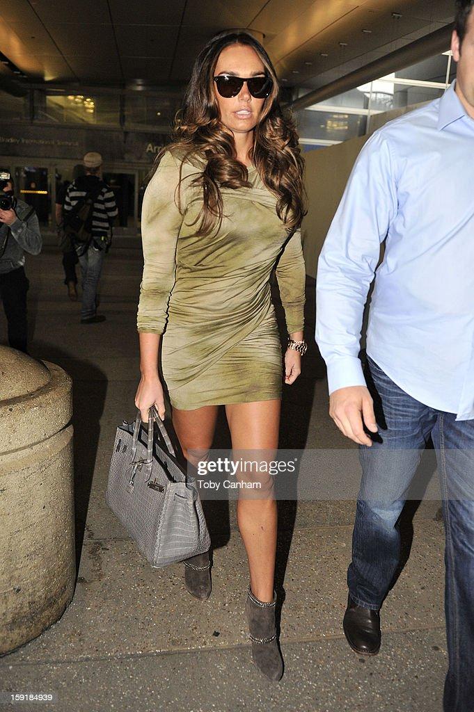 Tamara Ecclestone arrives in Los Angeles on January 9, 2013 in Los Angeles, California.