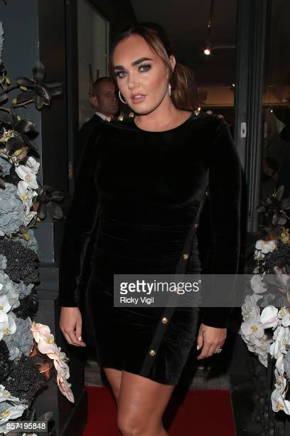 Tamara Ecclestone attends Margraves the solo exhibition by RETNA at the Maddox Gallery on October 3 2017 in London England
