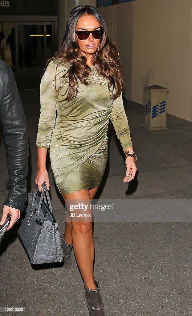 Tamara Ecclestone is seen at LAX Airport on January 9, 2013 in Los Angeles, California.