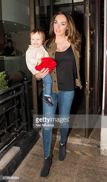 Tamara Ecclestone is seen leaving the Kai restaurant Mayfair on June 02 2015 in London England