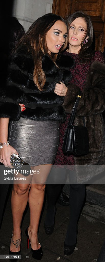 Tamara Ecclestone leaving Nobu Restaurant on January 26, 2013 in London, England.