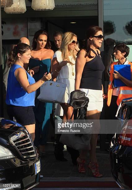 Tamara Ecclestone Petra Ecclestone and Slavica Ecclestone sighting at Ciampino Airport as they arrive for Petra Ecclestone and James Stunt's wedding...