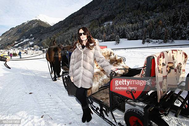 Tamara Ecclestone poses on a carriage on November 29 2013 in Ischgl Austria