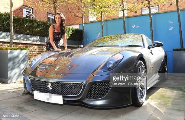 Tamara Ecclestone poses with her new Ferrari 599 in south west London to launch her Channel 5 show 'Tamara Ecclestone Billion $$ Girl' which starts...