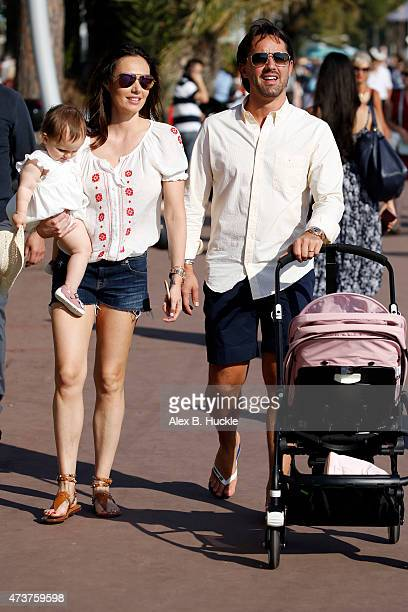 Tamara Ecclestone seen in Cannes with daughter Sophia and Husband Jay Rutling during the 68th Annual Cannes Film Festival on May 17 2015 in Nice...
