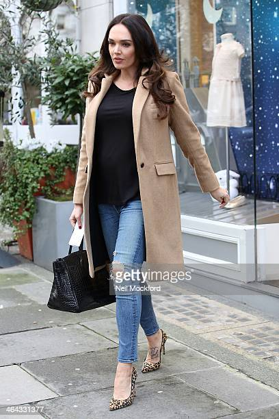 Tamara Ecclestone seen shopping at Baby Dior in Knightsbridge on January 22 2014 in London England